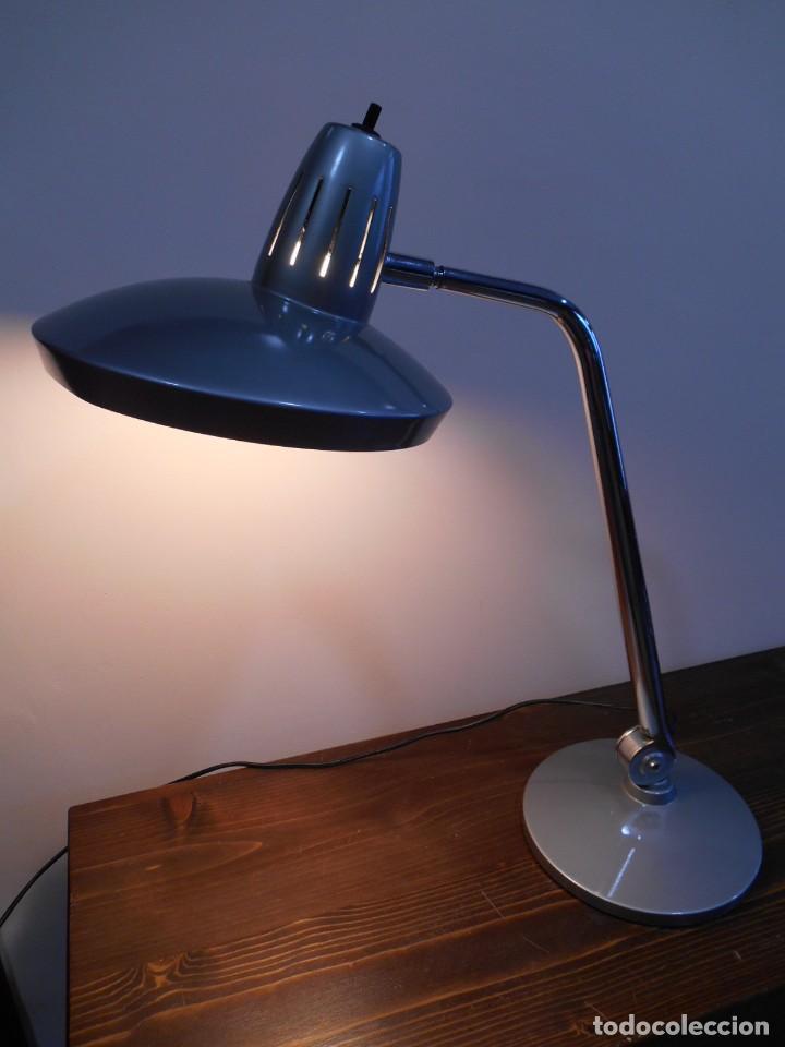 Vintage: LAMPARA MARCA FASE - MODELO FARO - COLOR GRIS/CROMO - AÑOS 70 - VINTAGE RETO -ORIGINAL - - Foto 7 - 128463251