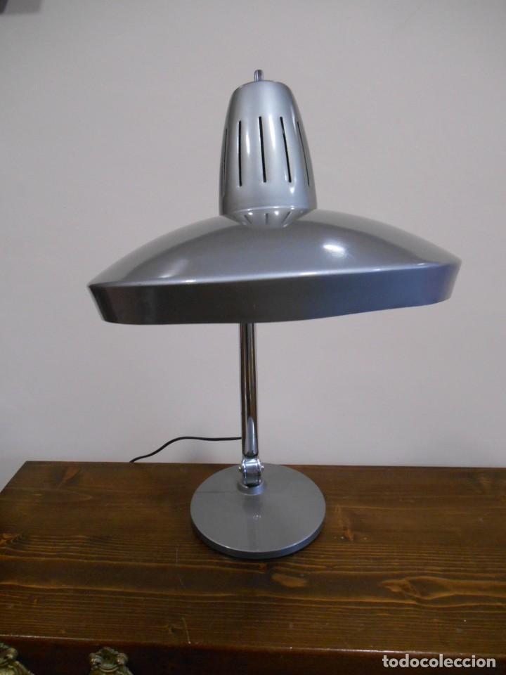 Vintage: LAMPARA MARCA FASE - MODELO FARO - COLOR GRIS/CROMO - AÑOS 70 - VINTAGE RETO -ORIGINAL - - Foto 9 - 128463251