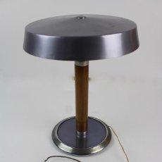 Vintage: LAMPARA DE MADERA Y METAL , FASE? . AÑOS 70.. Lote 128639595