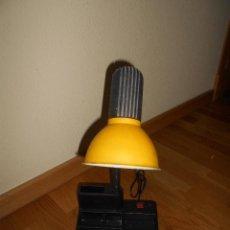 Vintage: LAMPARA FLEXO FASE AÑOS 70 - 80 COLOR AMARILLO ESTUDIO PORTA LAPICEROS. Lote 129667539
