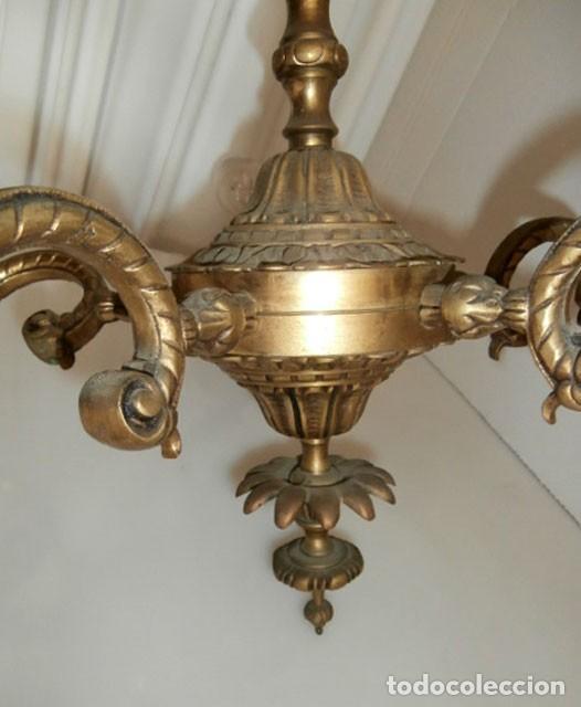 Vintage: LAMPARA DE TECHO BRONCE 5 LUCES - Foto 6 - 129672243