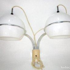 Vintage: JOAN ANTONI BLANC LAMPARA APLIQUE DOBLE MIGUEL MILA PARA TRAMO , NUNCA APARECIDA! MADERA PLASTICO. Lote 130281838