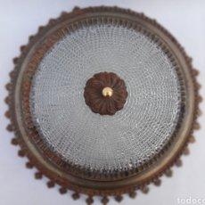Vintage: LÁMPARA PLAFON SOL EN METAL. VINTAGE. AÑOS 60.. Lote 130900051
