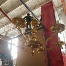 Vintage: LAMPARA DE TECHO DE 6 BRAZOS, DORADA, 60CM DIAMETRO. Lote 130921504