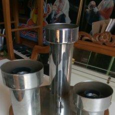 Vintage: LAMPARA VINTAGE DE TRES PUNTOS DE LUZ CROMADA. Lote 130961960