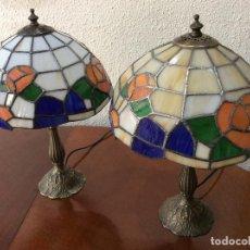 Vintage: PAREJA LAMPARAS ESTILO TIFFANY.. Lote 131353002