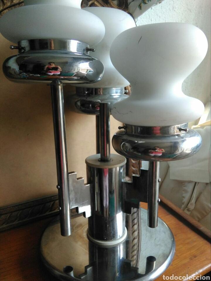 GENIAL LAMPARA VINTAGE DISEÑO ITALIANO AÑOS 70 ESTILO MAZZEGA MURANO SOBREMESA TECHO, SPACE AGE (Vintage - Lámparas, Apliques, Candelabros y Faroles)