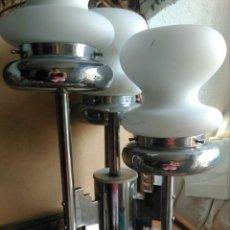Vintage: GENIAL LAMPARA VINTAGE DISEÑO ITALIANO AÑOS 70 ESTILO MAZZEGA MURANO SOBREMESA TECHO, SPACE AGE. Lote 131508379