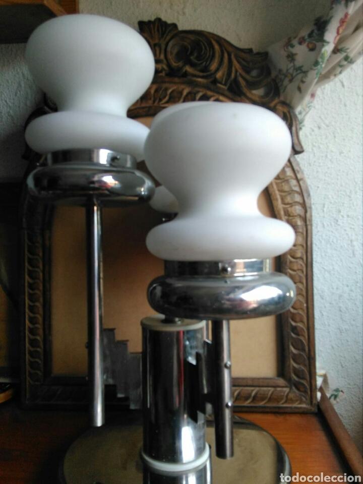 Vintage: Genial Lampara vintage diseño italiano años 70 estilo Mazzega Murano sobremesa techo, space age - Foto 3 - 131508379