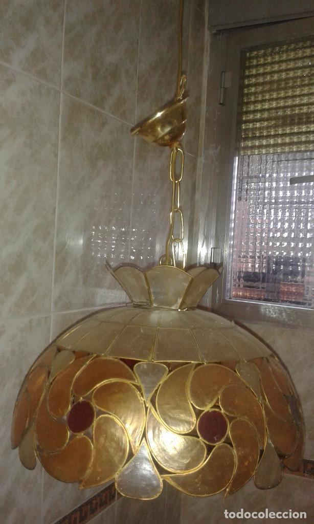 Vintage: Lampara colgante 10 bombillas - Foto 5 - 132510414