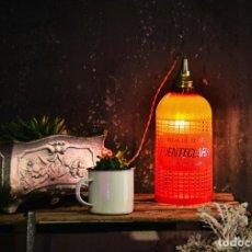 Vintage: CURIOSA LAMPARA SIFON DE SOBREMESA O TECHO - LUZ AMBIENTE BAR RESTAURANTE DECORACION VINTAGE. Lote 132741230