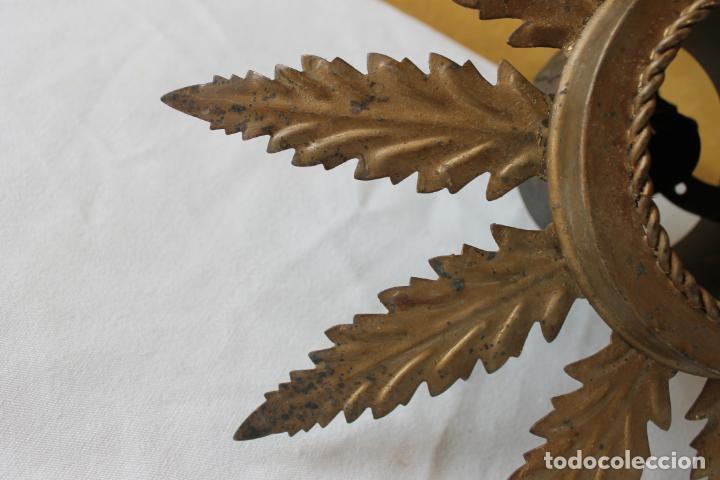 Vintage: LAMPARA DE FORJA, SOL CON 11 HOJAS, - Foto 3 - 132938190