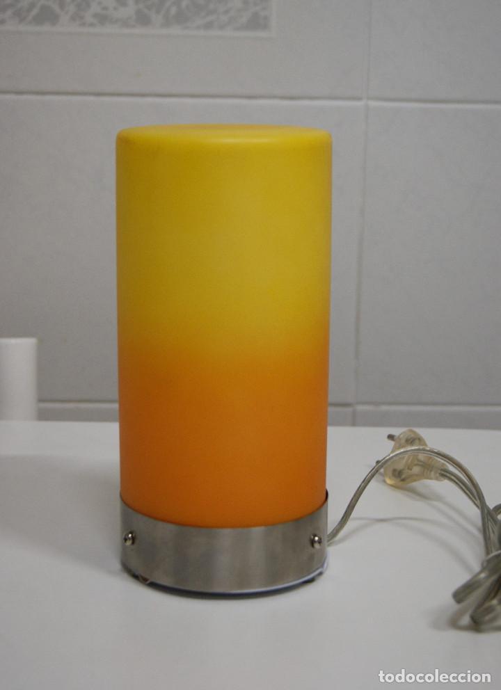 naranja de sobremesa cristal Lámpara Sold tulipa en qGUzVpSM