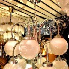 Vintage: LAMPARA SPUTNIK CROMO AÑOS 70 . Lote 134245370