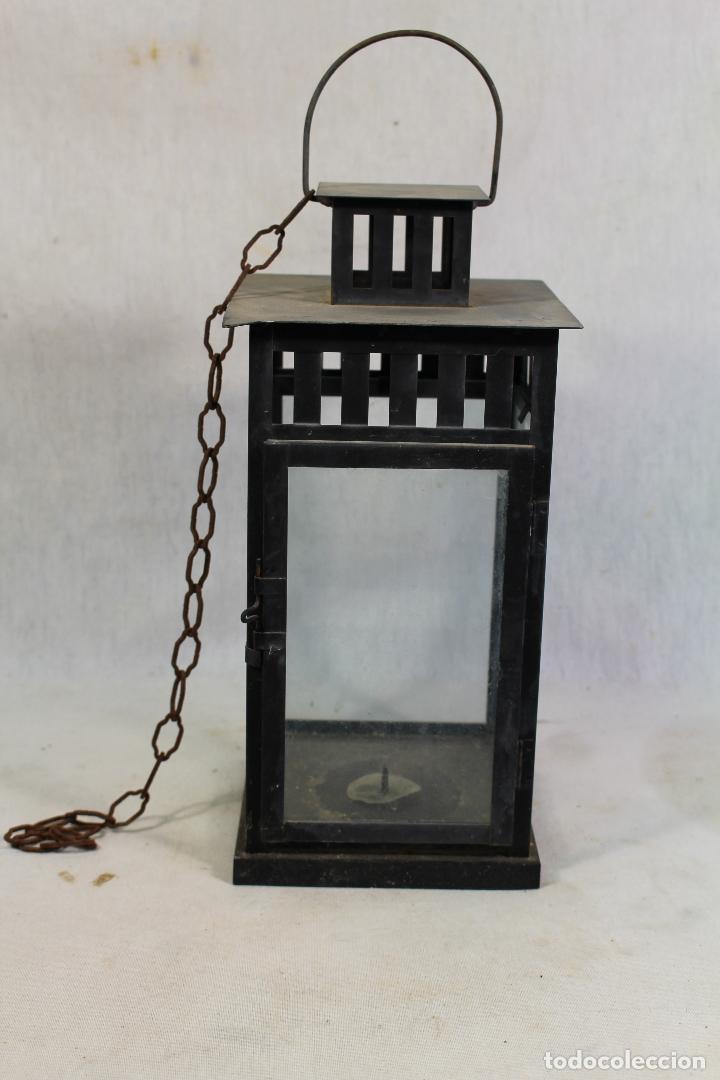 FAROL EN METAL (Vintage - Lámparas, Apliques, Candelabros y Faroles)