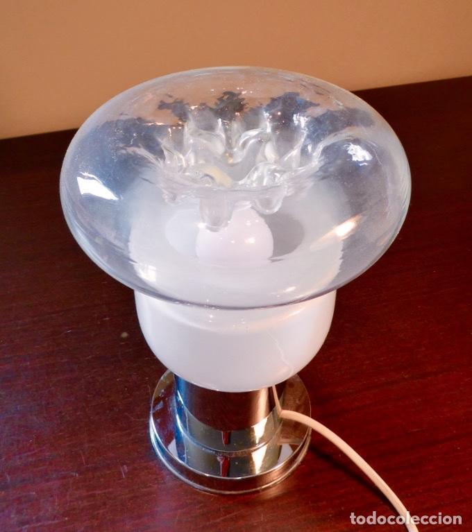Vintage: Lámpara seta sobremesa Space Age Vintage Murano - Foto 4 - 134883158