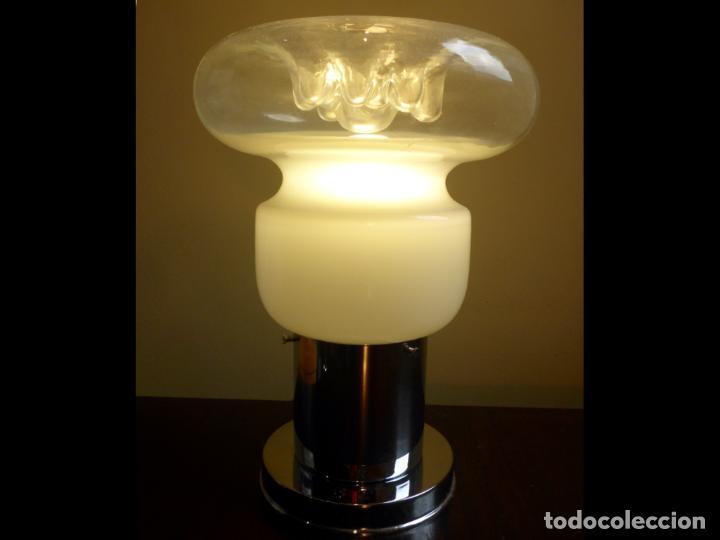 Vintage: Lámpara seta sobremesa Space Age Vintage Murano - Foto 2 - 134883158