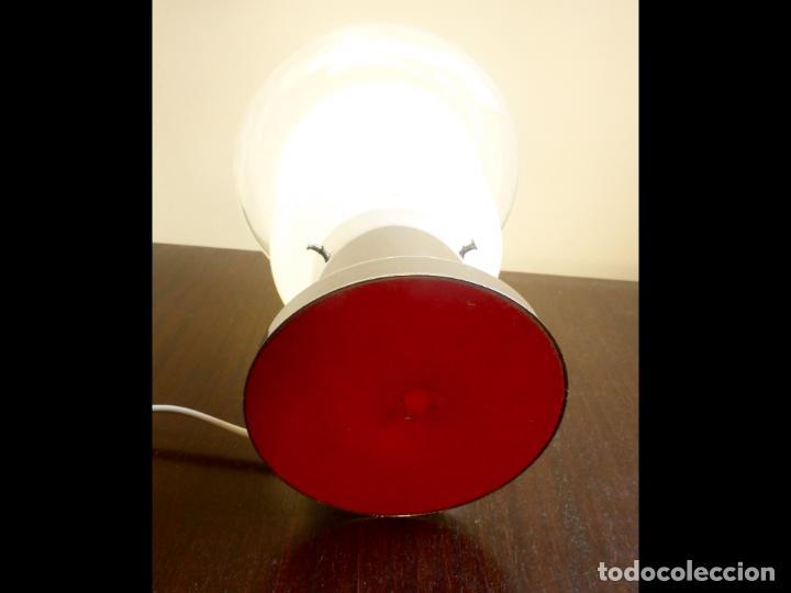 Vintage: Lámpara seta sobremesa Space Age Vintage Murano '70s - Foto 9 - 134883158