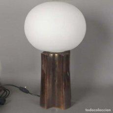Vintage: LAMPARA VINTAGE DE MESA DE CERAMICA Y CRISTAL. 1960 - 1970 (BRD). Lote 134928990