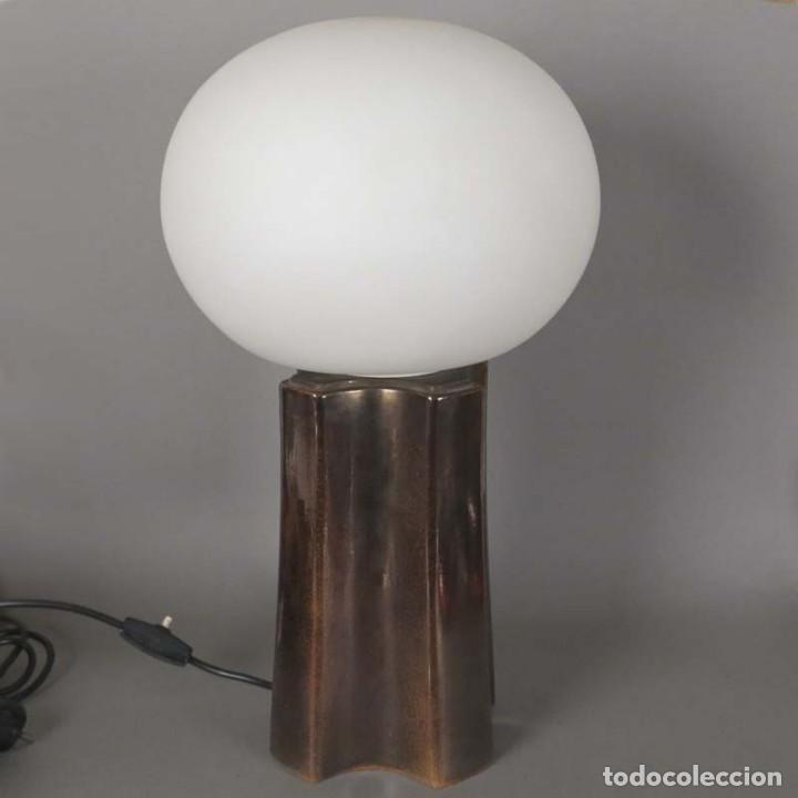 Vintage: Lampara vintage de mesa de ceramica y cristal. 1960 - 1970 (BRD) - Foto 6 - 134928990