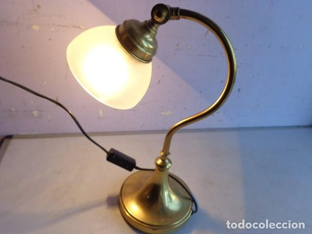 Vintage: ANTIGUA, AÑOS 60 RETRO VINTAGE PRECIOSA LAMPARA REGULABLE BRONCE LATON IMPECABLE Y FUNCIONANDO - Foto 2 - 135079734