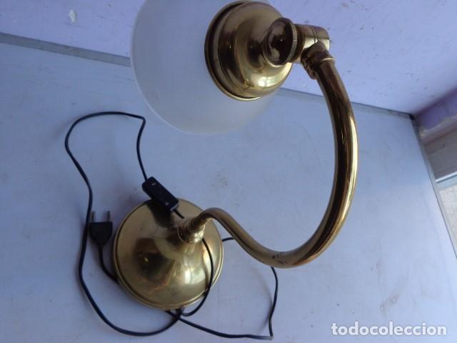 Vintage: ANTIGUA, AÑOS 60 RETRO VINTAGE PRECIOSA LAMPARA REGULABLE BRONCE LATON IMPECABLE Y FUNCIONANDO - Foto 5 - 135079734