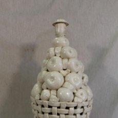 Vintage: LAMPARA VINTAGE MANISES MESA PORCELANA CERÁMICA . Lote 135283838