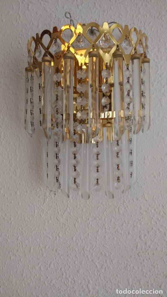 APLIQUE CRISTAL (Vintage - Lámparas, Apliques, Candelabros y Faroles)