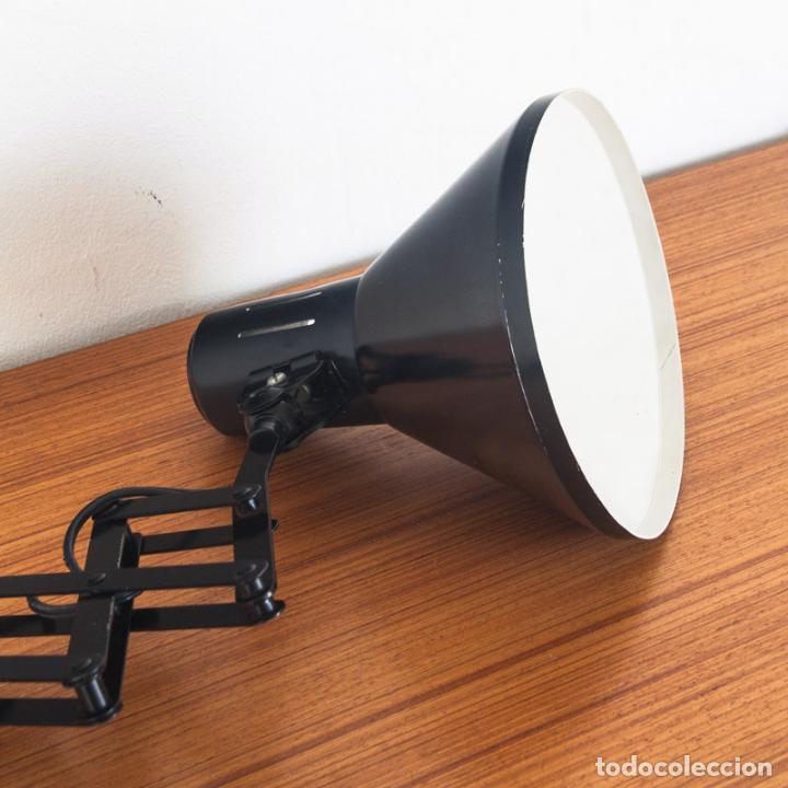 Vintage: Lámpara flexo de acordeón. Hierro lacado. España, años 70 - Foto 5 - 136791938