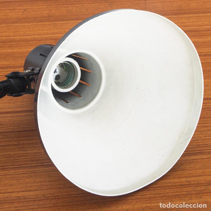 Vintage: Lámpara flexo de acordeón. Hierro lacado. España, años 70 - Foto 6 - 136791938