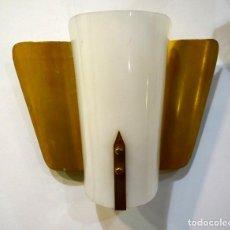 Vintage: LAMPARA APLIQUE DE PARED AÑOS 50 ALUMINIO VINTAGE ROCKABILLY MID CENTURY ANTIGUO. Lote 136802322