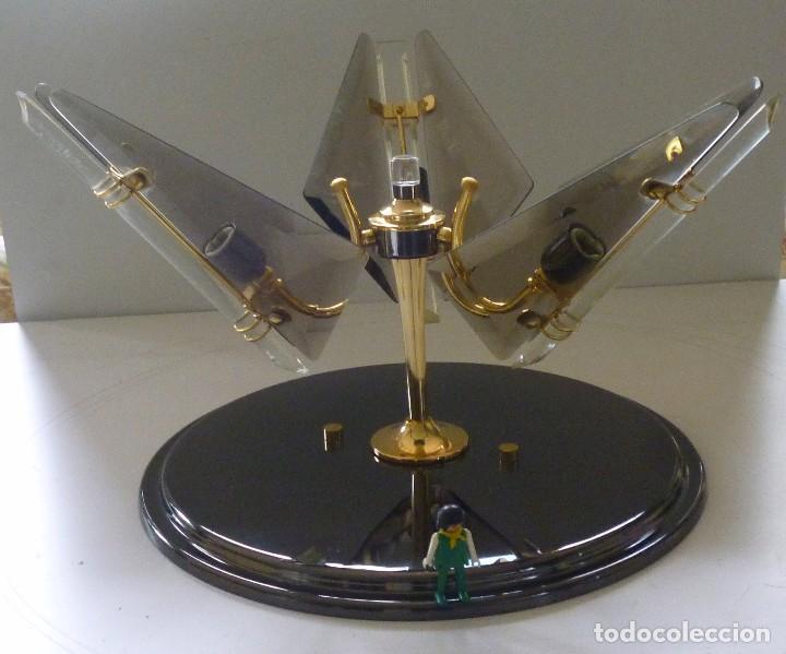BONITA LAMPARA DE TECHO CRISTALES VISELADOS FUNCIONA PERFECTAMENTE BUEN ESTADO VINTAGE AÑOS 70-80 (Vintage - Lámparas, Apliques, Candelabros y Faroles)