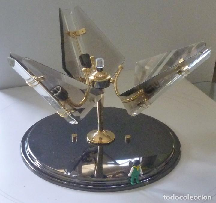 Vintage: BONITA LAMPARA DE TECHO CRISTALES VISELADOS FUNCIONA PERFECTAMENTE BUEN ESTADO VINTAGE AÑOS 70-80 - Foto 4 - 137112694