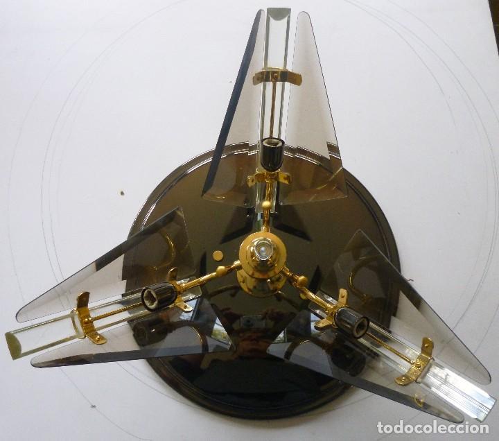 Vintage: BONITA LAMPARA DE TECHO CRISTALES VISELADOS FUNCIONA PERFECTAMENTE BUEN ESTADO VINTAGE AÑOS 70-80 - Foto 5 - 137112694
