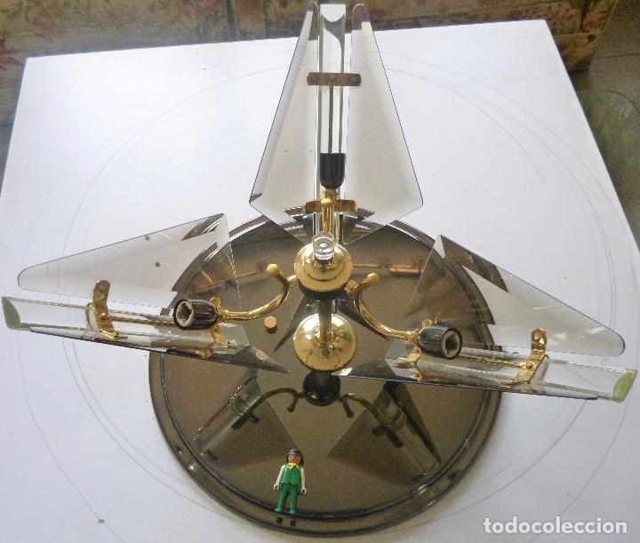 Vintage: BONITA LAMPARA DE TECHO CRISTALES VISELADOS FUNCIONA PERFECTAMENTE BUEN ESTADO VINTAGE AÑOS 70-80 - Foto 6 - 137112694