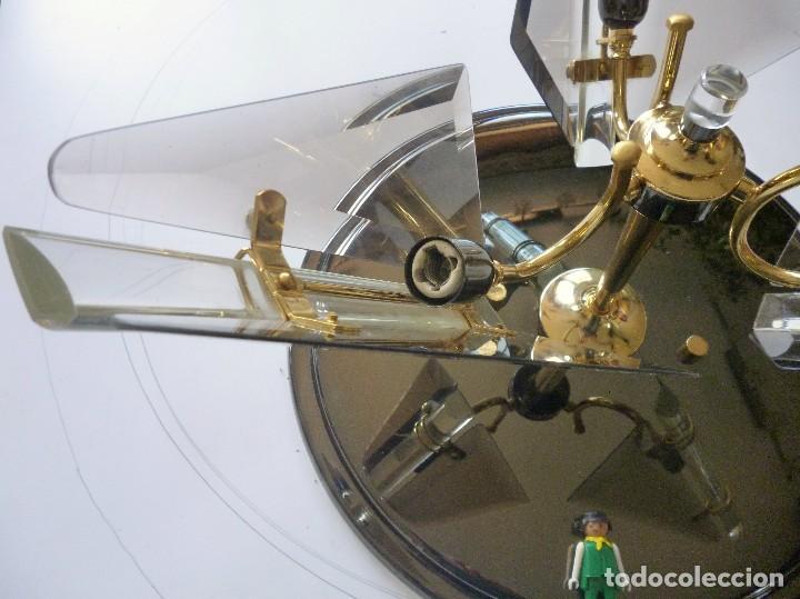 Vintage: BONITA LAMPARA DE TECHO CRISTALES VISELADOS FUNCIONA PERFECTAMENTE BUEN ESTADO VINTAGE AÑOS 70-80 - Foto 9 - 137112694