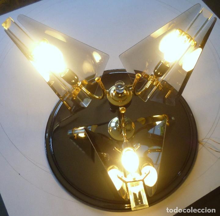 Vintage: BONITA LAMPARA DE TECHO CRISTALES VISELADOS FUNCIONA PERFECTAMENTE BUEN ESTADO VINTAGE AÑOS 70-80 - Foto 10 - 137112694