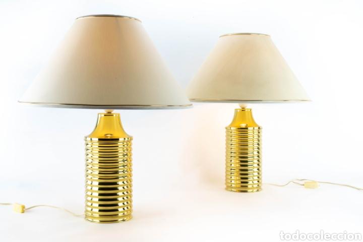cilíndricas century de latón lámpara mesa luminaria Lámparas mid diseño luz 54RA3Ljq