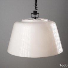 Vintage: LAMPARA CODIALPO TECHO SUBE Y BAJA METACRILATO BLANCO AÑOS 70 VINTAGE. Lote 137589614