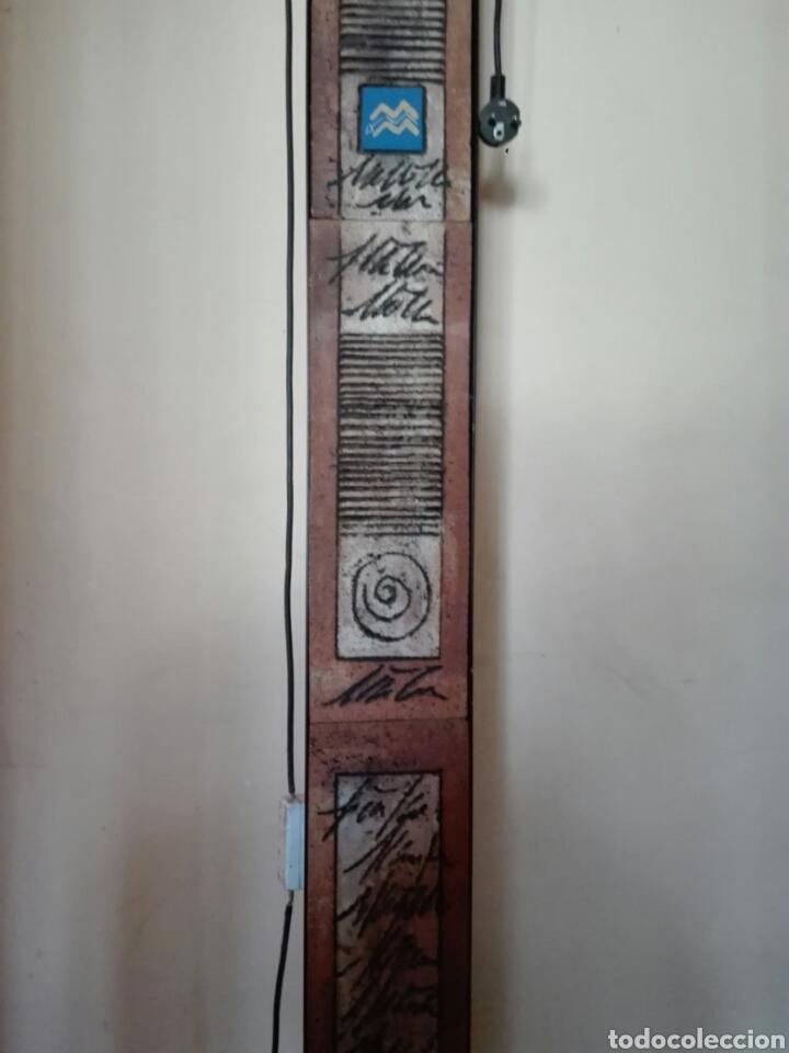 Vintage: LAMPARA DE PIE EN HIERRO Y CERAMICA . FIRMA AUTOR - Foto 3 - 137900229