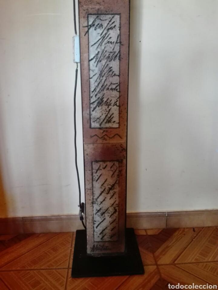 Vintage: LAMPARA DE PIE EN HIERRO Y CERAMICA . FIRMA AUTOR - Foto 4 - 137900229