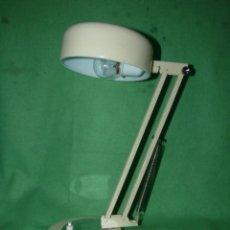 Vintage: GENIAL LAMPARA SOBREMESA FLEXO VINTAGE CREMA DISEÑO ELEGANTE ABATIBLE AÑOS 70 RETRO VINTAGE. Lote 138702522