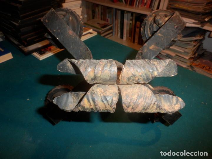 Vintage: LAMPARA TECHO O DOS APLIQUES PARED - HIERRO FORJADO - VER FOTOS Y DETALLES - Foto 3 - 138852494