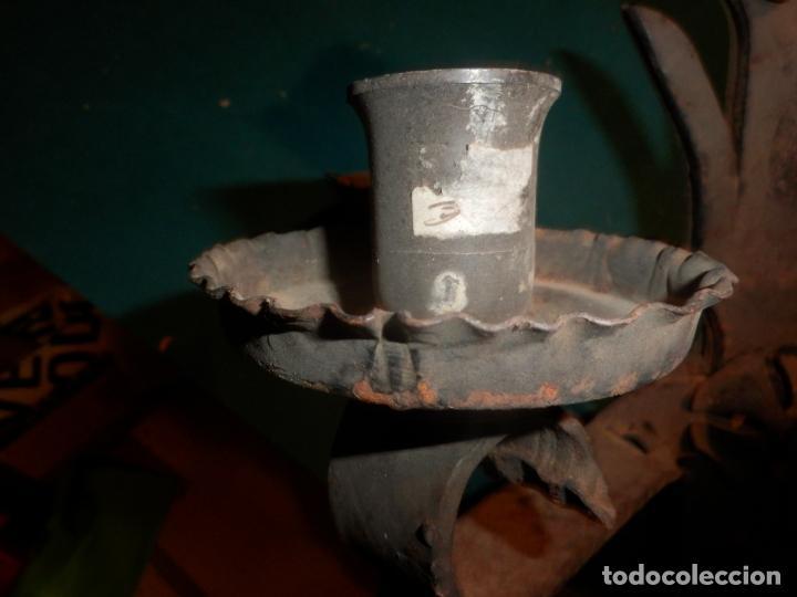 Vintage: LAMPARA TECHO O DOS APLIQUES PARED - HIERRO FORJADO - VER FOTOS Y DETALLES - Foto 4 - 138852494