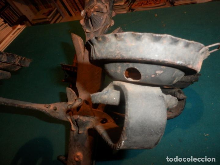 Vintage: LAMPARA TECHO O DOS APLIQUES PARED - HIERRO FORJADO - VER FOTOS Y DETALLES - Foto 8 - 138852494