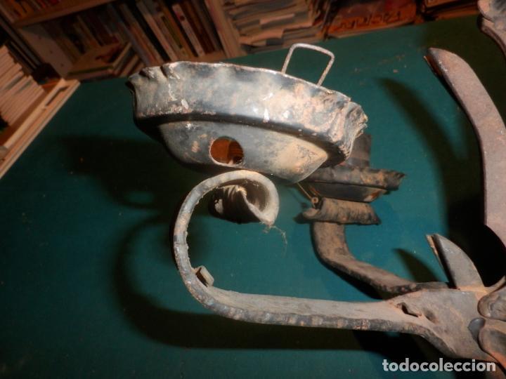 Vintage: LAMPARA TECHO O DOS APLIQUES PARED - HIERRO FORJADO - VER FOTOS Y DETALLES - Foto 9 - 138852494