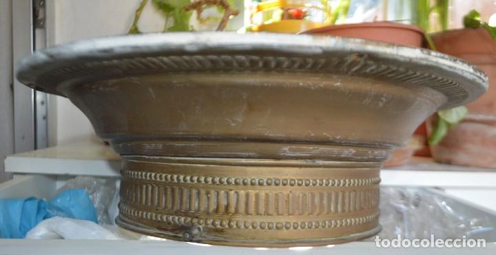 LAMPARA PLAFON DE TECHO, DE LATON. AÑOS 30 (Vintage - Lámparas, Apliques, Candelabros y Faroles)