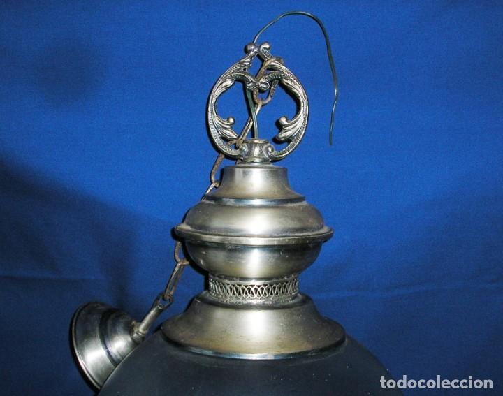 Vintage: Lampara farol con gran globo. - Foto 2 - 140048578