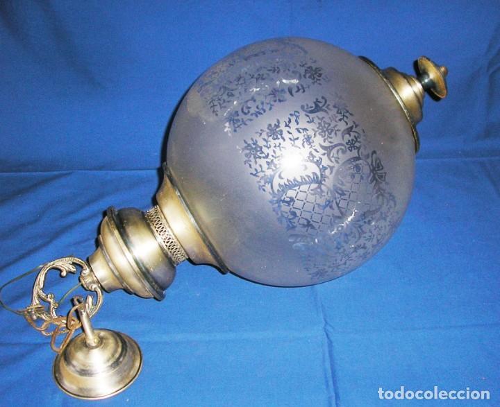 Vintage: Lampara farol con gran globo. - Foto 3 - 140048578