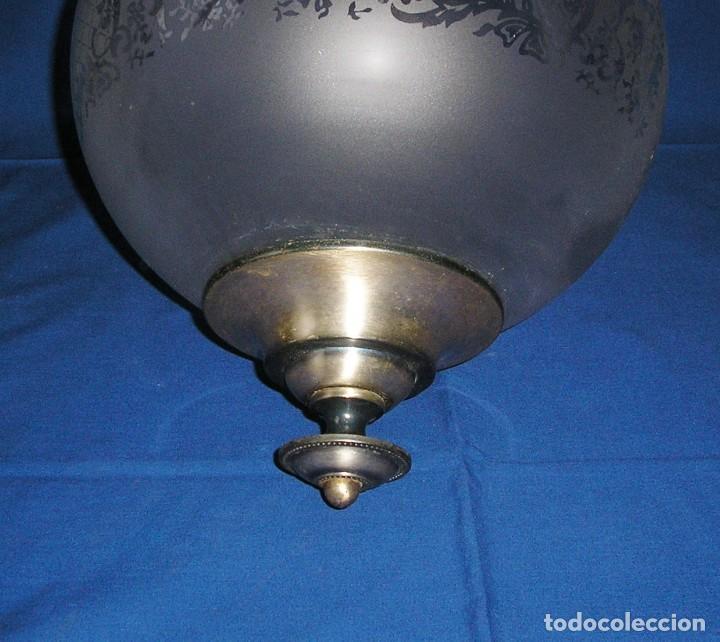 Vintage: Lampara farol con gran globo. - Foto 4 - 140048578